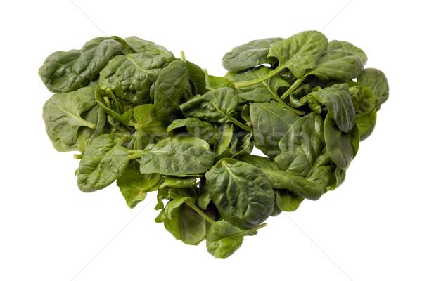 шпинат сердце изолированный белый продовольствие любви Сток-фото © photosil