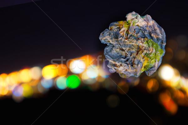 земле мусор планеты бумаги аннотация bokeh Сток-фото © photosil
