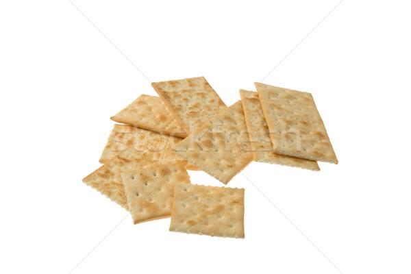 хрустящий изолированный белый группа еды Cookie Сток-фото © photosil
