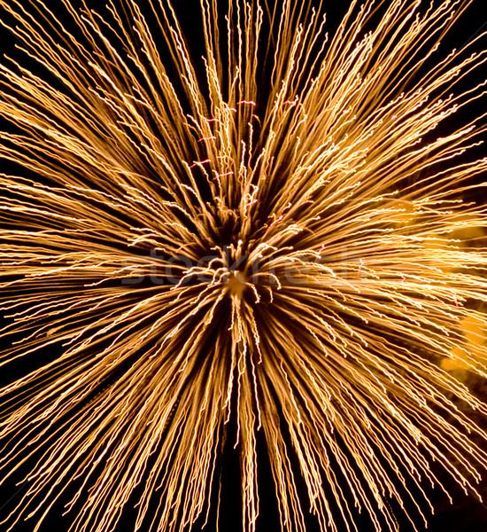 фейерверк красивой темно ночное небо дым Сток-фото © photosil