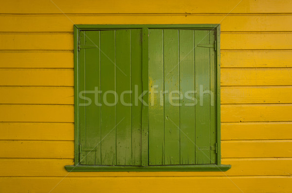 зеленый окна ярко желтый окрашенный Сток-фото © photosil