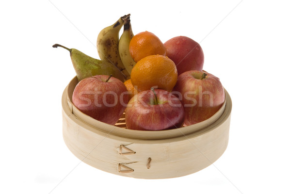 Bamboo recipient with fruits Stock photo © photosil