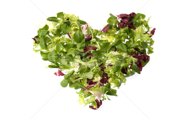 зеленый сердце Салат кукурузы любви здоровья Сток-фото © photosil