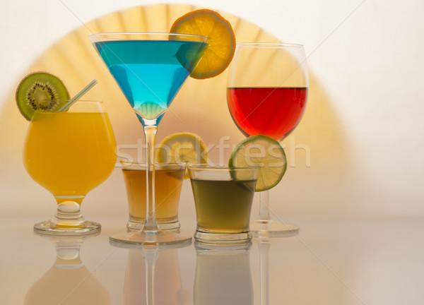 Bebidas coquetel tequila mojito vinho suco de laranja Foto stock © photosil
