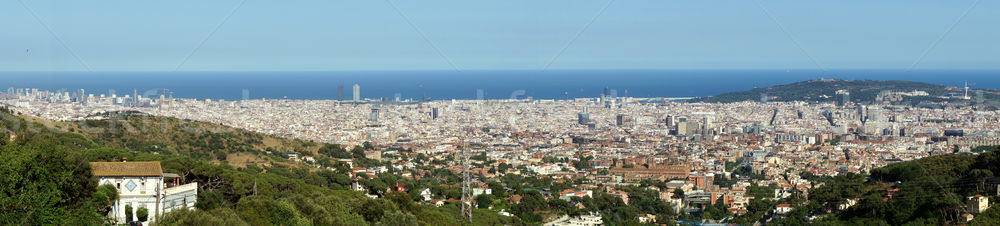Panorama Barcelona Spanje breed stad middellandse zee Stockfoto © photosil