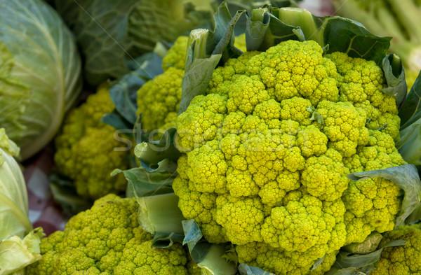 цветная капуста свежие зеленый рынке цветок овощей Сток-фото © photosil