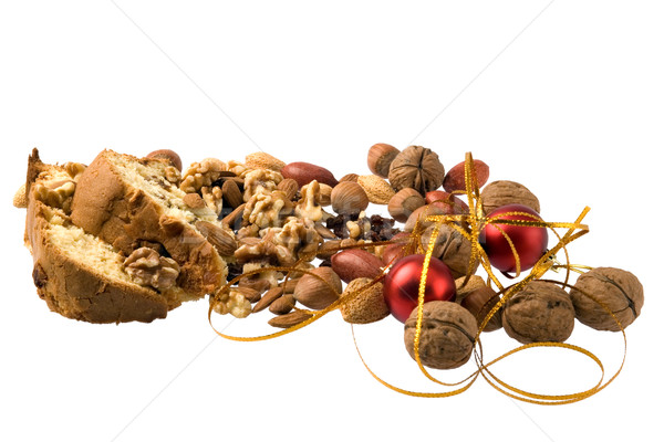 Рождества десерта частей торт орехи рождество Сток-фото © photosil