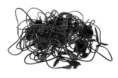 Cabos complexo problemas tecnologia cabo Foto stock © photosil