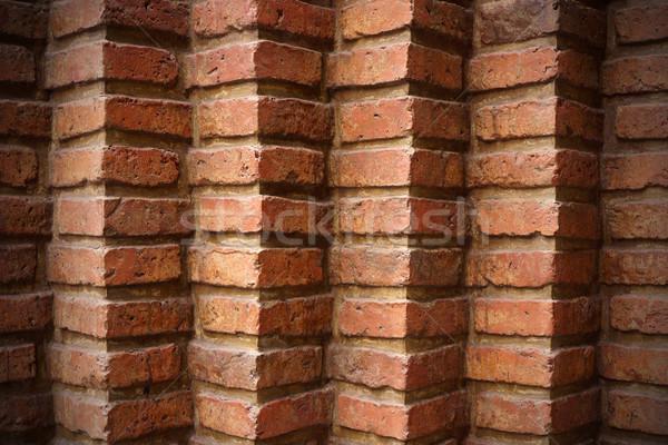 красный кирпичная стена текстуры кирпичных обои конкретные Сток-фото © photosil