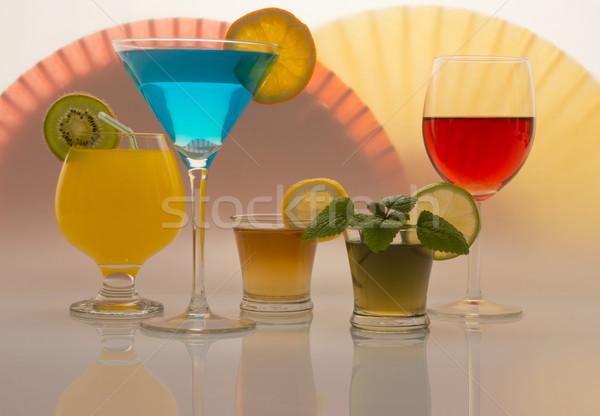 напитки красочный различный вечеринка фрукты пить Сток-фото © photosil