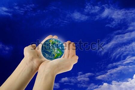Holding the Earth Stock photo © photosil
