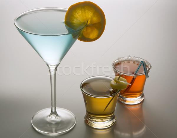 коктейли три красочный очки цитрусовые Бар Сток-фото © photosil