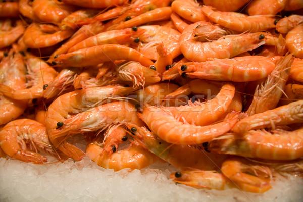 свежие креветок продажи продовольствие рыбы Сток-фото © photosil