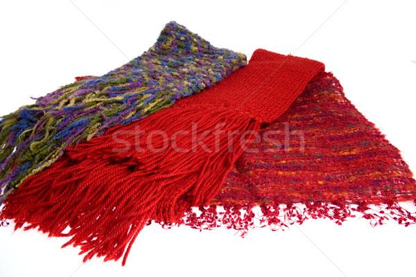 три красочный шерсти изолированный белый текстуры Сток-фото © photosil