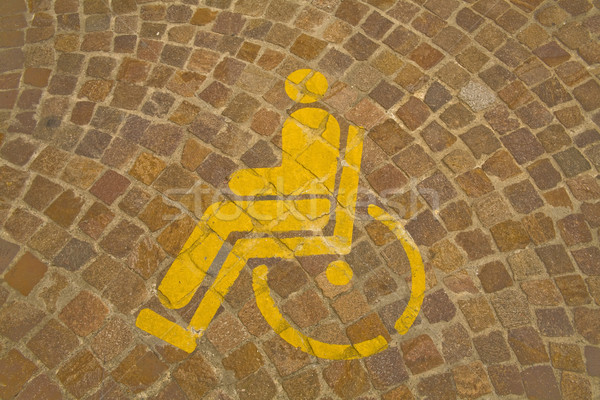 Parking for handicapped  Stock photo © photosil