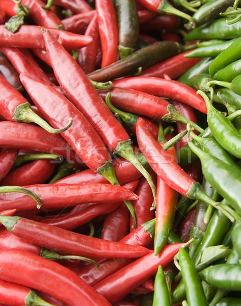 Pimenta pimentas vermelho verde mercado comida Foto stock © photosil