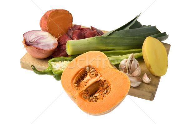 овощей изолированный белый продовольствие Сток-фото © photosil