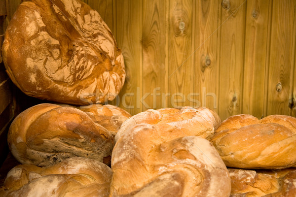 Pão mercado fresco raso foco Foto stock © photosil