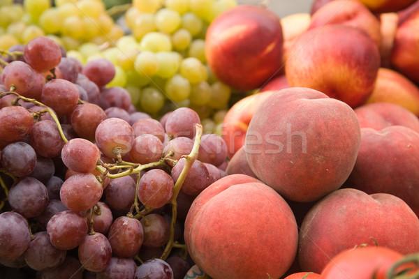 плодов виноград персики рынке зеленый винограда Сток-фото © photosil