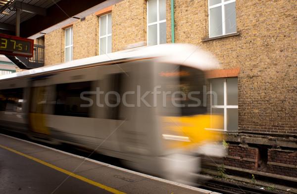 Trem estação negócio cidade urbano Foto stock © photosil