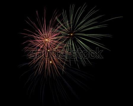 Fogos de artifício brilhante preto luz fundo Foto stock © photosil
