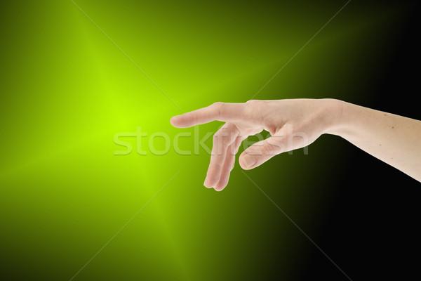 указывая женщины стороны тело знак человек Сток-фото © photosil