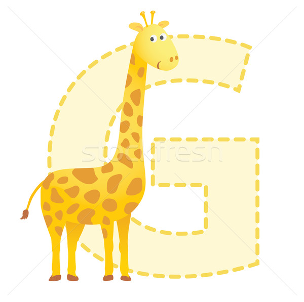 Giraffe illustratie kinderen brief dier Stockfoto © photosoup
