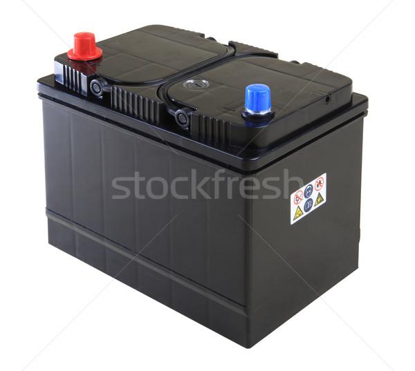 Coche batería negro aislado blanco Foto stock © photosoup