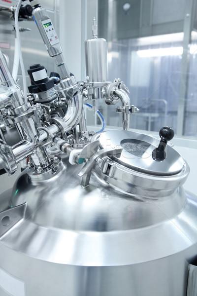 Nyomás felszerlés technológia gyógyszeripari gyártás létesítmény Stock fotó © photosoup