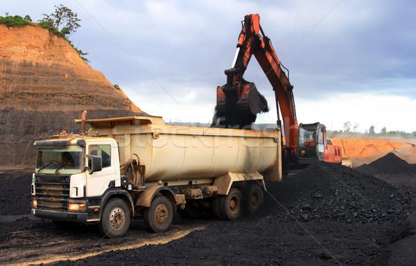 уголь грузовика открытых горно строительство Сток-фото © photosoup