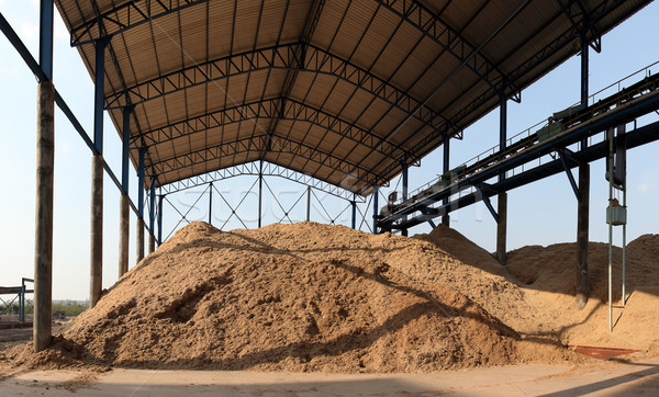 Bagasse stock pile Stock photo © photosoup