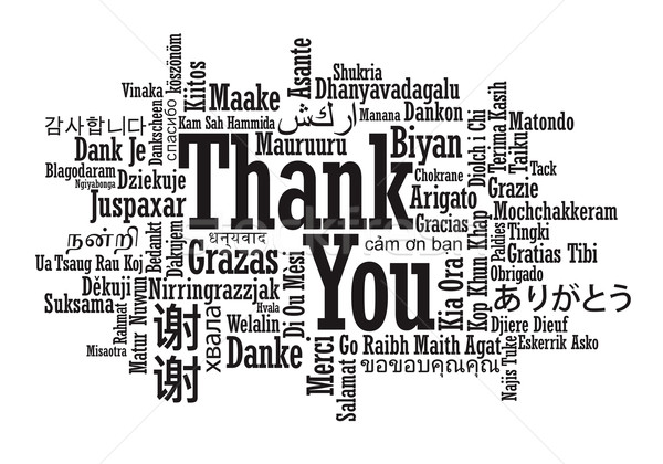 Thank You Word Cloud illustration Stock photo © photosoup