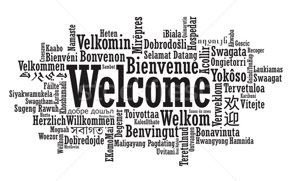 Welcome Word Cloud Stock photo © photosoup
