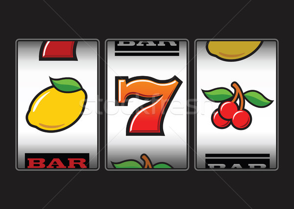 Symboles illustration signe casino citron Photo stock © photosoup