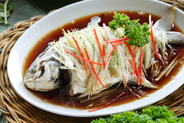 Oriental whole fish dish Stock photo © photosoup