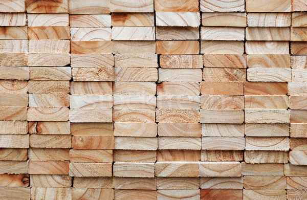 stack of square wood planks Stock photo © photosoup
