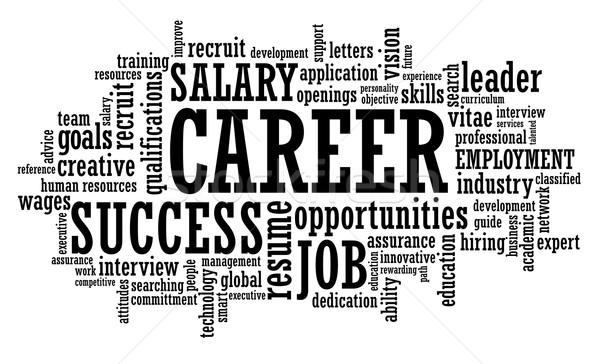 Pracy kariery okazja chmura słowo ilustracja zatrudnienie Zdjęcia stock © photosoup