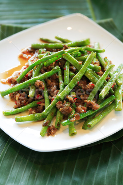 Dried sauteed string beans dish Stock photo © photosoup