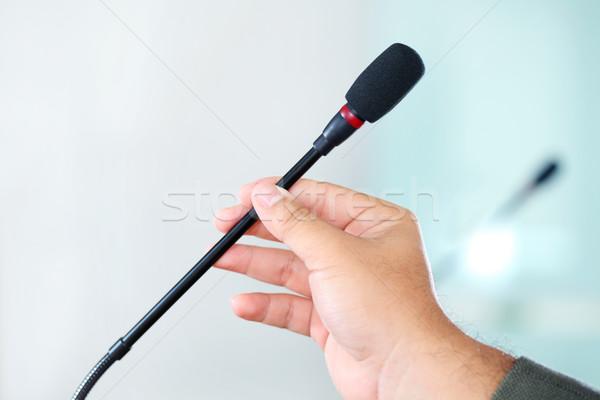 Conferenza microfono mano business Foto d'archivio © photosoup