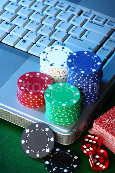 Online póker vonal internet pénz papír Stock fotó © photosoup