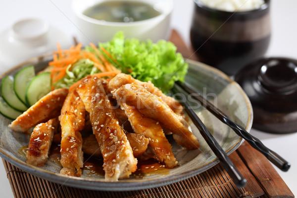 Teriyaki pollo uno mejor japonés platos Foto stock © photosoup