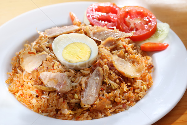 Endonezya pirinç ünlü gıda yumurta Stok fotoğraf © photosoup