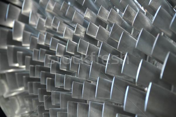 Közelkép turbina penge textúra háttér benzin Stock fotó © photosoup