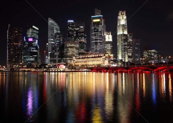 Singapore night view Stock photo © photosoup