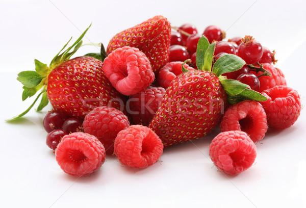 Vegyes bogyók finom egészség zöld eper Stock fotó © photosoup