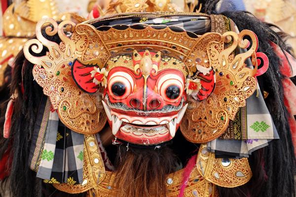 Bali oroszlán maszk kilátás lény karakter Stock fotó © photosoup