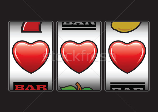 Triple hearts slots machine Stock photo © photosoup