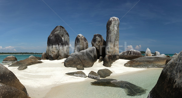 Batu Berlayar Island with natural rock formation Stock photo © photosoup