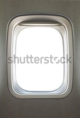 Uçak pencere boş cam gökyüzü ışık Stok fotoğraf © photosoup