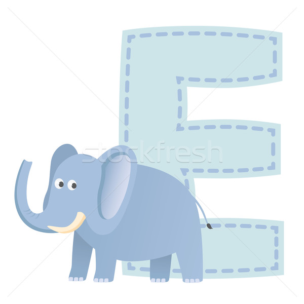 éléphant illustration bleu grasse animaux Photo stock © photosoup